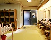 【写真】脱衣所 | 湯河原温泉旅館おんやど惠の露天風呂・大浴場
